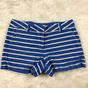 Vineyard Vines girls cotton linen stripe shorts